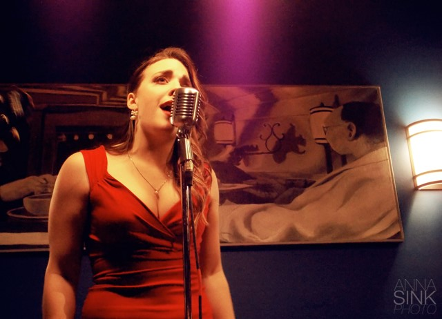 Singing Waitress: Graves at SpeakEZ Lounge. (Photo/Anna Sink)
