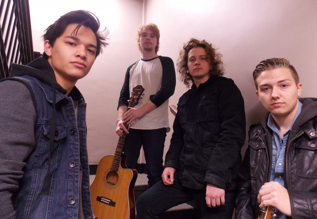 Vocal Chemistry: From left, Cohen Parker, Sam Starkie, Levi Lilly and Greyson Bos of American WiFi. (Photo/Local Spins)