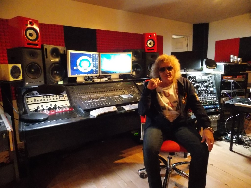 Mastering Master: Robyn Robins in his West Michigan recording studio. (Photo/John Sinkevics)
