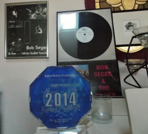 Kudos: Some of Robins' awards and memorabilia.  (Photo/Local Spins)