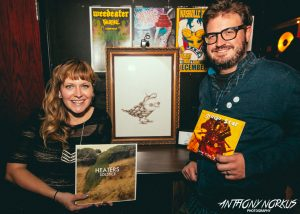 'So Much Love': Nicole LaRae and Brian Hoekstra at dizzybirds' launch party in October. (Photo/Anthony Norkus)