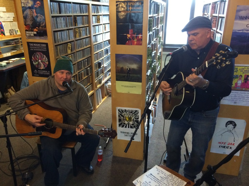 Raw Blues: Thirsty Perch Blues band performing for Local Spins on WYCE. (Photo/Local Spins)