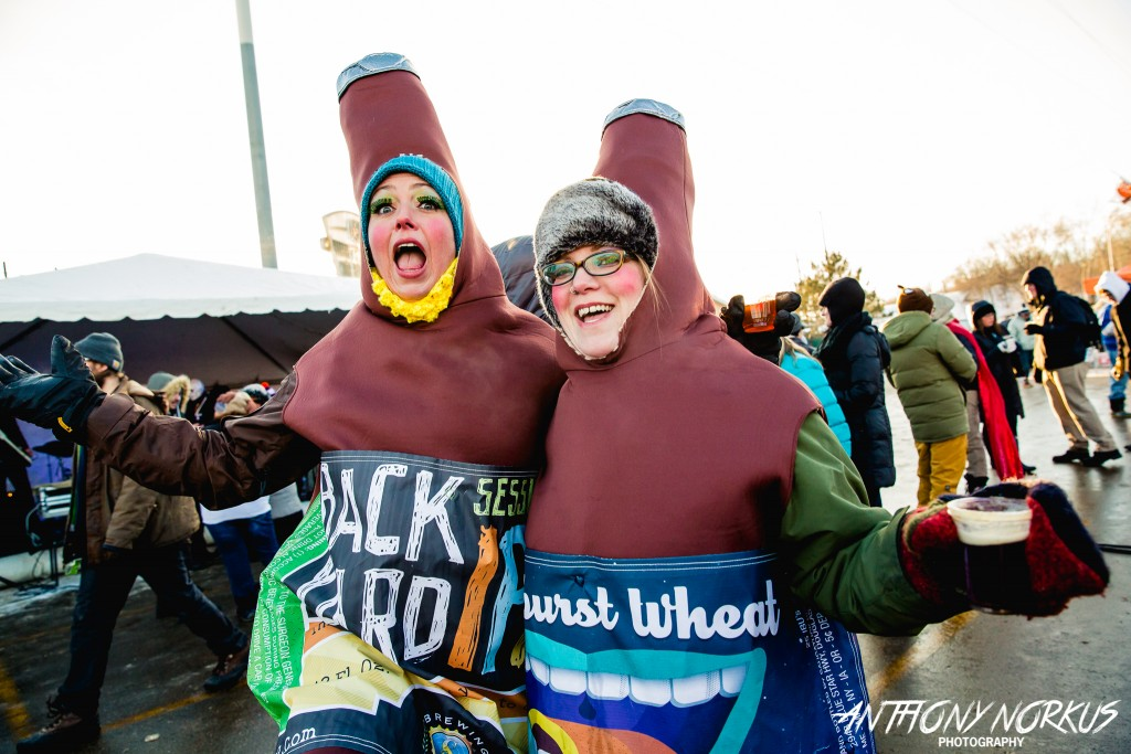 Un-Brrrr-idled Beer Enthusiasm: Thousands of beer devotees endured the cold at the Winter Beer Festival in Comstock Park. (Photo/Anthony Norkus)