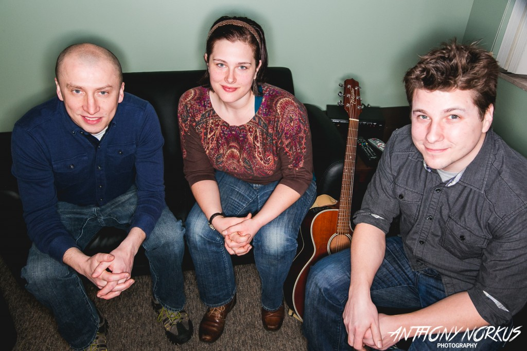 Focused on the 'Music Life': From left, Rob Jordan, Cole Hansen and Tory Peterson of Bello Spark. (Photo/Anthony Norkus)