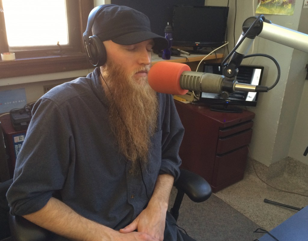 Finding Balance: Rick Chyme in the studio during Local Spins on WYCE,