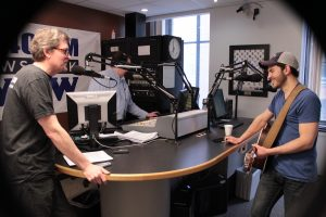 On the Air: Rivers during Local Spins Live. (Photo/Anna Sink)