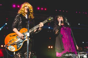 Sister Rockers: Nancy Wilson, left, with Ann Wilson. (Photo/Anthony Norkus)