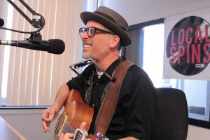 On the Air: Otis Blueswell Jr. performing during Local Spins Live. (Photo/Anna Sink)