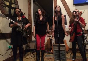 Girls With Guitars: From left, Blake Elliott, Miriam Pico, E Minor and Katy Larson (of The Accidentals).