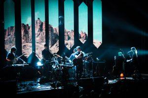 Stage Magic: A stellar light show accompanied Stevens' set. (Photo/Anna Sink)