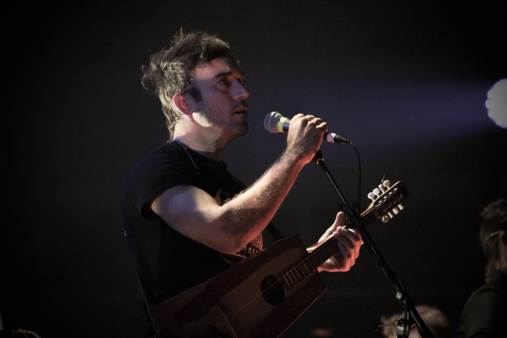 'We're All Gonna Die': Sufjan Stevens during the sold-out Calvin College concert. (Photo/Anna Sink)