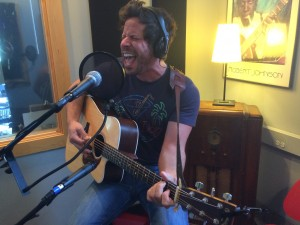 In Studio X: Brett Mitchell performing during Local Spins on WYCE. (Photo/Local Spins)