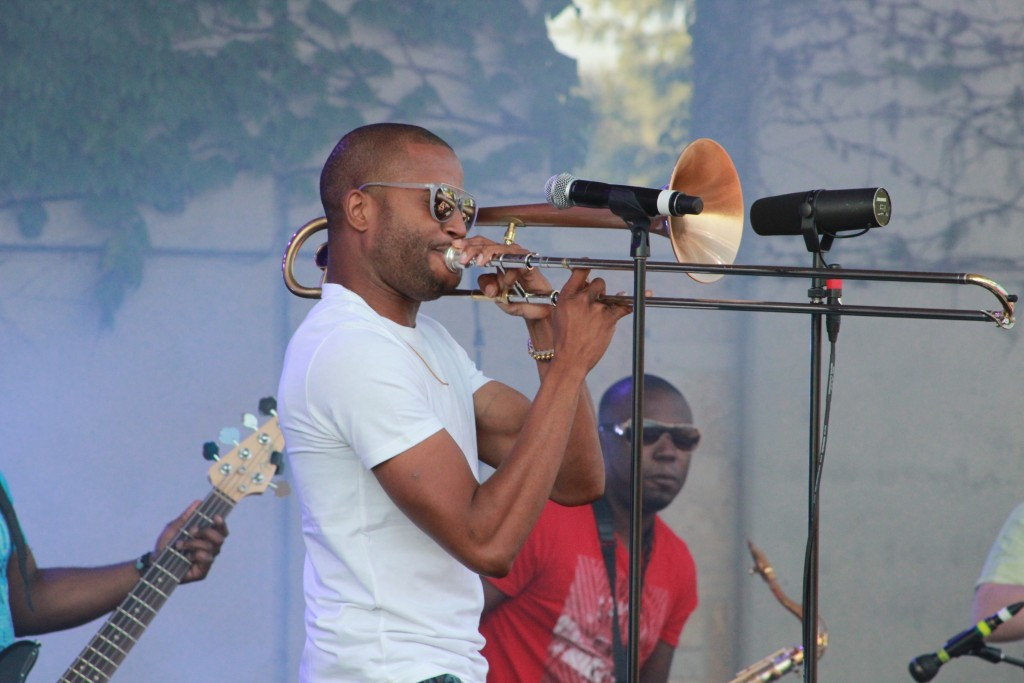 Inaugural Show: Trombone Shorty will play the first concert at 20 Monroe Live. (Photo/Anna Sink)