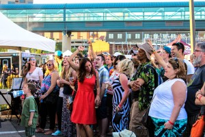 Party Crowd: By early evening, Local First Street Party was hopping on Saturday. (Photo/Taylor Mansen)