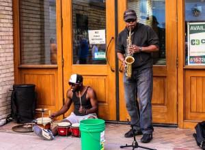 Busking: Street musicians were everywhere, too. (Photo/Taylor Mansen)