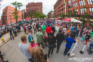 Street Party Central: Folks flocked downtown this weekend for Festival and more. (Photo/Anthony Norkus)