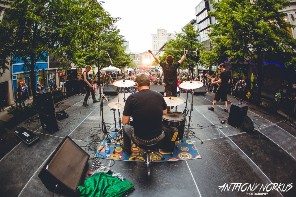 Stage-Struck: Downtown Grand Rapids had tons of 'em this weekend, with The Bitters playing City Stage at Festival. (Photo/Anthony Norkus)