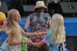 Dancing Damsels: Kids romped at this weekend's Buttermilk Jamboree. (Photo/Anna Sink)