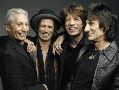 Still Amazing: Watts, Richards, Jagger and Woods.