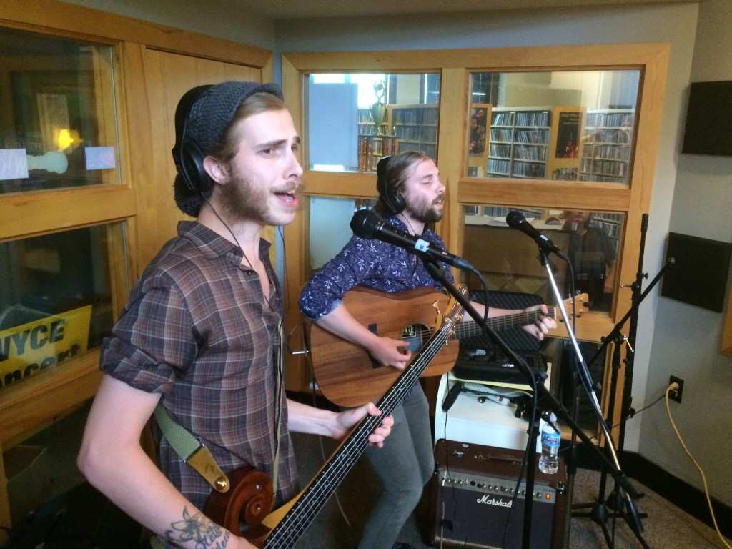 Musical Brothers: Jairimi and Bryce Driesenga of Brother Adams in Studio X. (Photo/Local Spins)