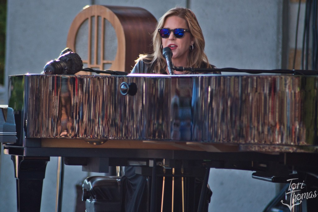 On the Sunny Side of the Stage: Diana Krall on stage at Meijer Gardens on Monday night. (Photo/Tori Thomas)