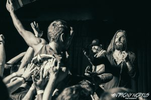 Stage-Diving Rock: Singer Keith Buckley and ETID. (Photo/Anthony Norkus)
