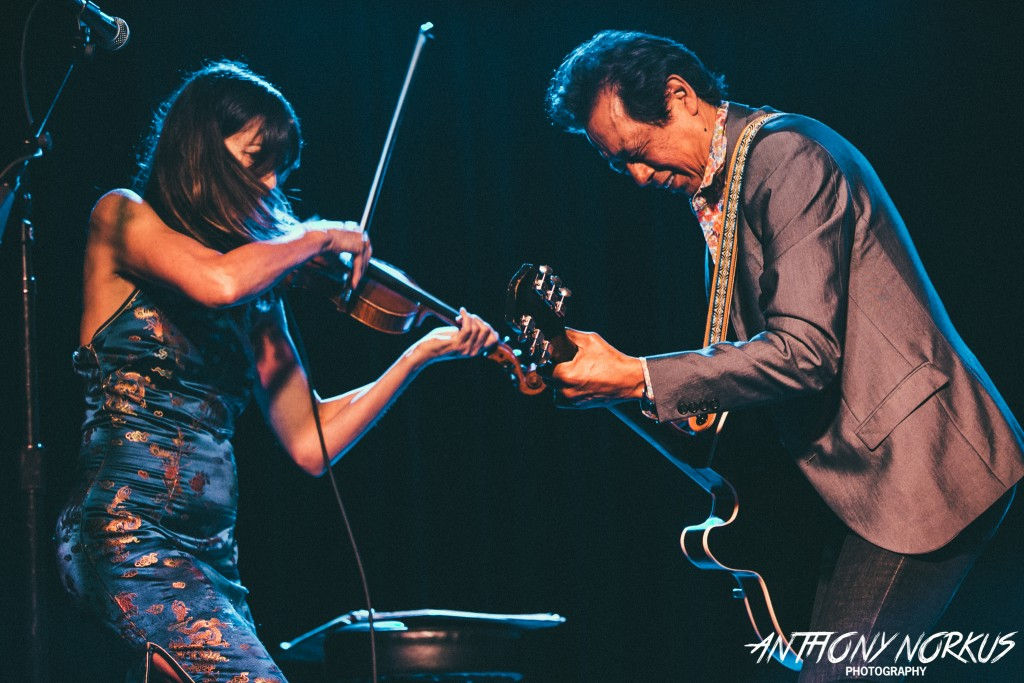 Iconic Singer-Songwriter: Alejandro Escovedo, right, last performed in Grand Rapids with violinist Betty Soo at The Intersection. (Photo/Anthony Norkus)