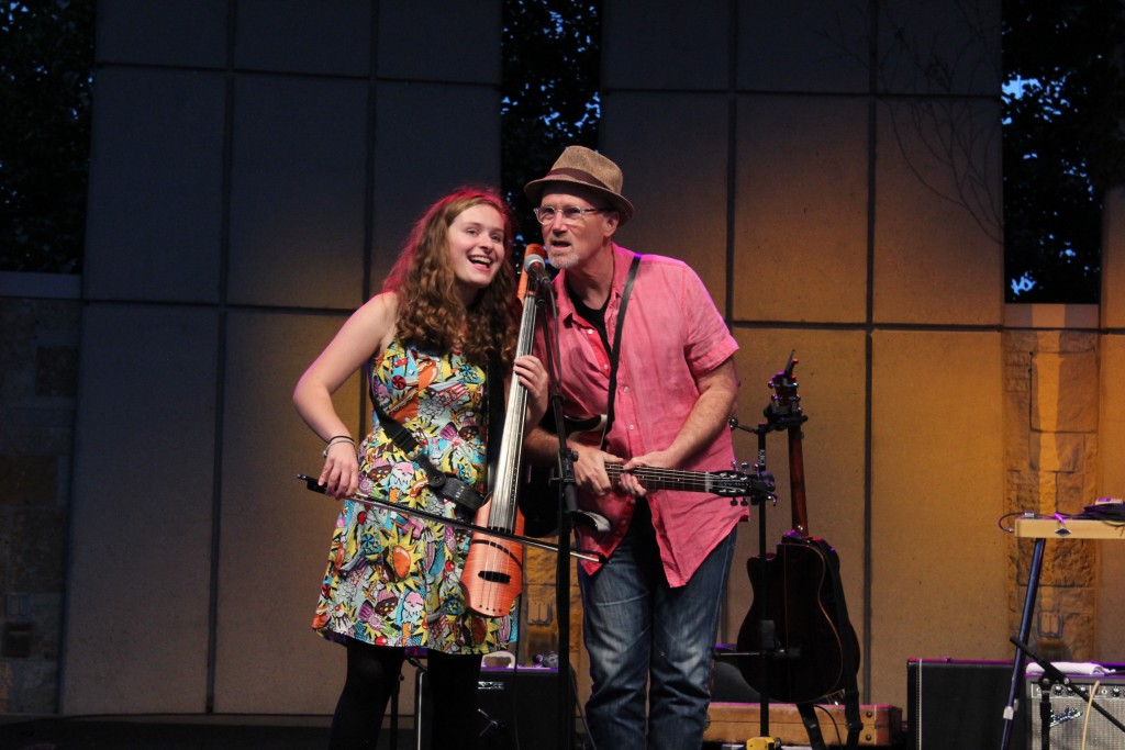The Crenshaw Accidentals: Katie Larson and Marshall Crenshaw performing Tuesday at Meijer Gardens. (Photo/Anna Sink)