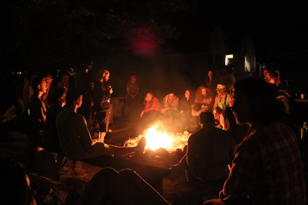 Active Artisan Community: Campfire camaraderie is a big part of Earthwork Harvest Gathering. (Photo/Anna Sink)