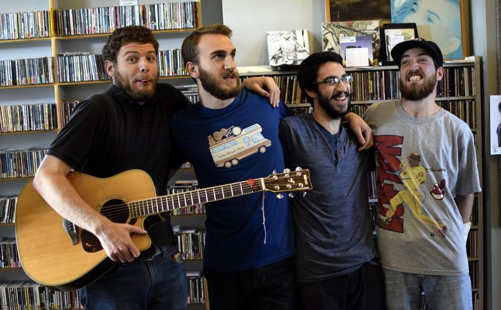 Frolicking in an Awesome Music Scene: From left, Chris Bota, John Nowak, John Loria and Isaac Berkowitz of Desmond Jones. (Photo/David Specht)