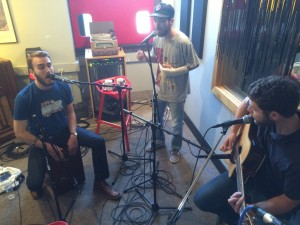 On the Air: Desmond Jones performing during Local Spins on WYCE. (Photo/Local Spins)
