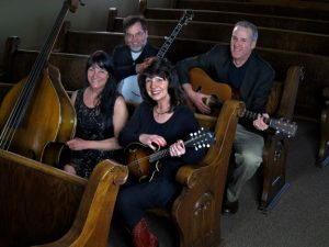 Zellie's Band: Venue owner and mandolinist Terri Grannis, center, also performs in the house band.