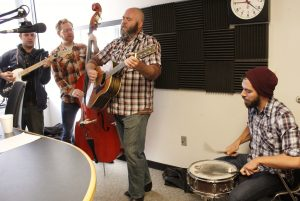 On the Air: The Bootstrap Boys on Local Spins Live. (Photo/Anna Sink)