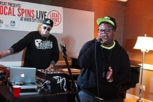 Upbeat Rap: Lady Ace Boogie with DJ Dean Martian. (Photo/Anna Sink)