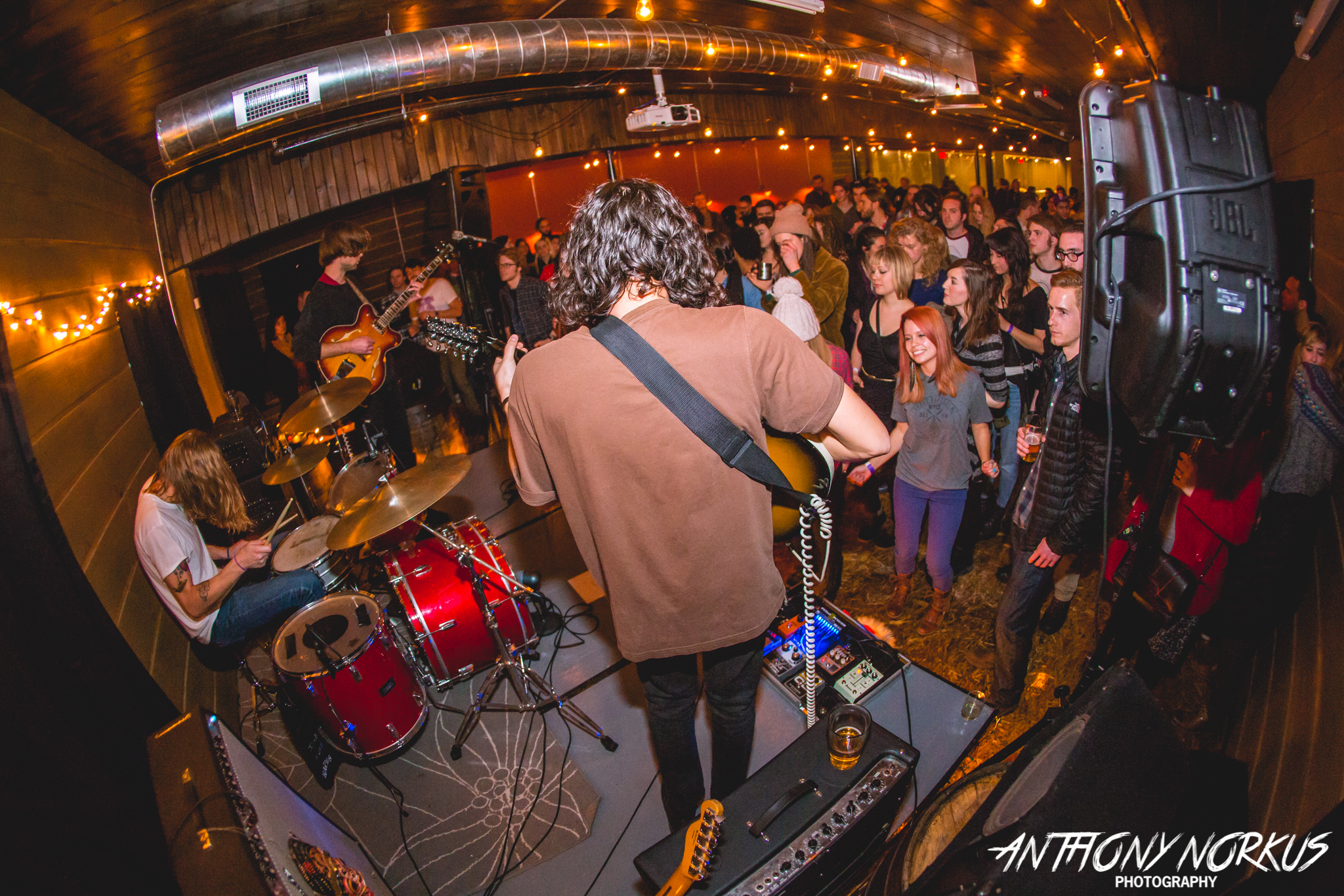 Rocking a New Grand Rapids Venue: Heaters on stage Saturday upstairs at Long Road Distillers. (Photo/Anthony Norkus)