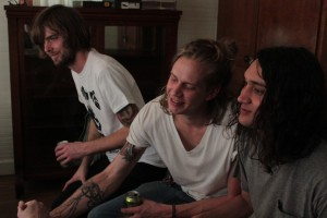Local Spins on WYCE: Heaters during their Local Spins interview at Michigan House-Austin. (Photo/Anna Sink)