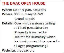 The open house is Saturday.