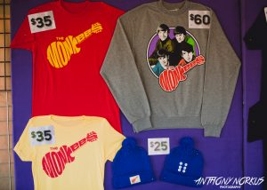 Nostalgic Gear: The merchandise booth was busy on Wednesday. (Photo/Anthony Norkus)