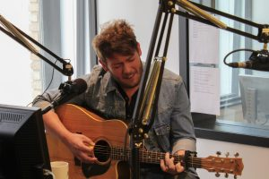 On the Air: Jonny Carroll performing during Local Spins Live. (Photo/Hunter Gamble)