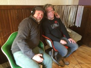 In the Studio: Jack Leaver with Dave Stanton at Goon Lagoon. (Photo/Local Spins)