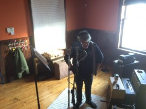 Laying Down Vocals: Mitch Wood at Goon Lagoon. (Photo/Local Spins)