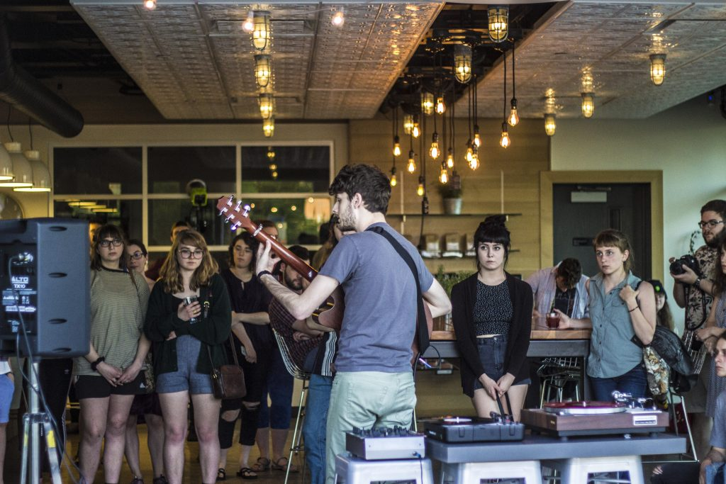 Uncoventional Venue: Ferris Coffee has made music work with a hint of espresso. (Photo/Ricky Olmos)