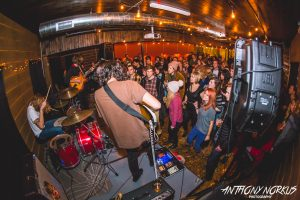 Heating Up Long Road: Heaters on stage upstairs. (Photo/Anthony Norkus)