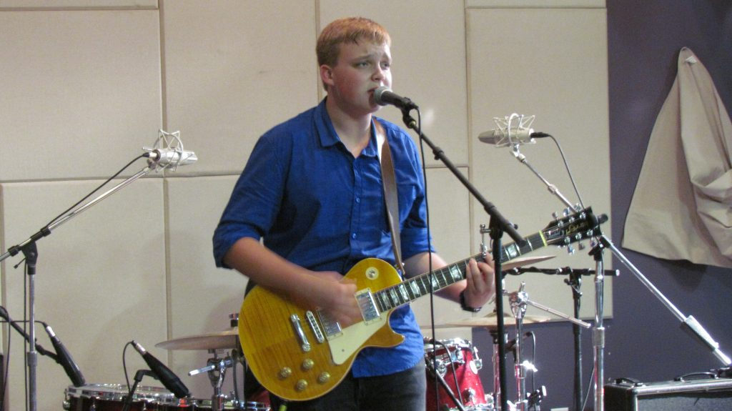 Best Band: Young Jake Kershaw and his group took home the grand prize on Saturday. (Photo/Matt Marn)