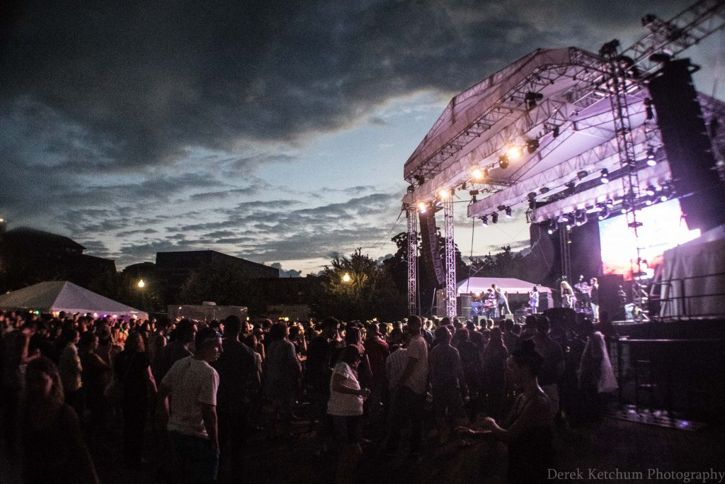 Clearing Skies: Audiotree Music Festival in Kalamazoo weathered the rain on Saturday. (Photo/Derek Ketchum)