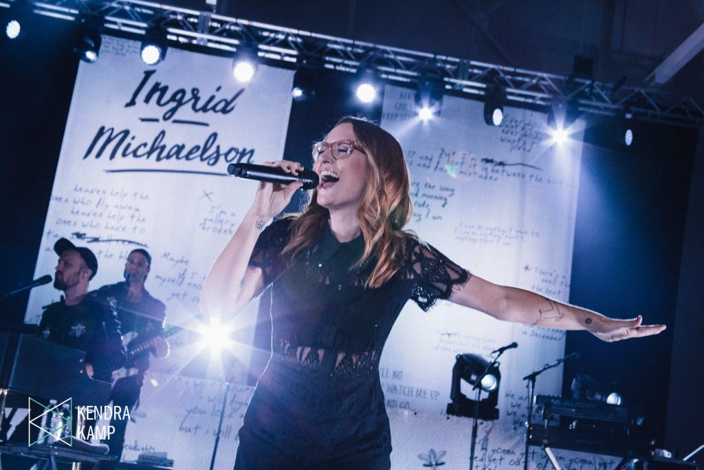 Indie-Pop Power: Ingrid Michaelson on stage at Calvin College on Friday night. (Photo/Kendra Kamp)
