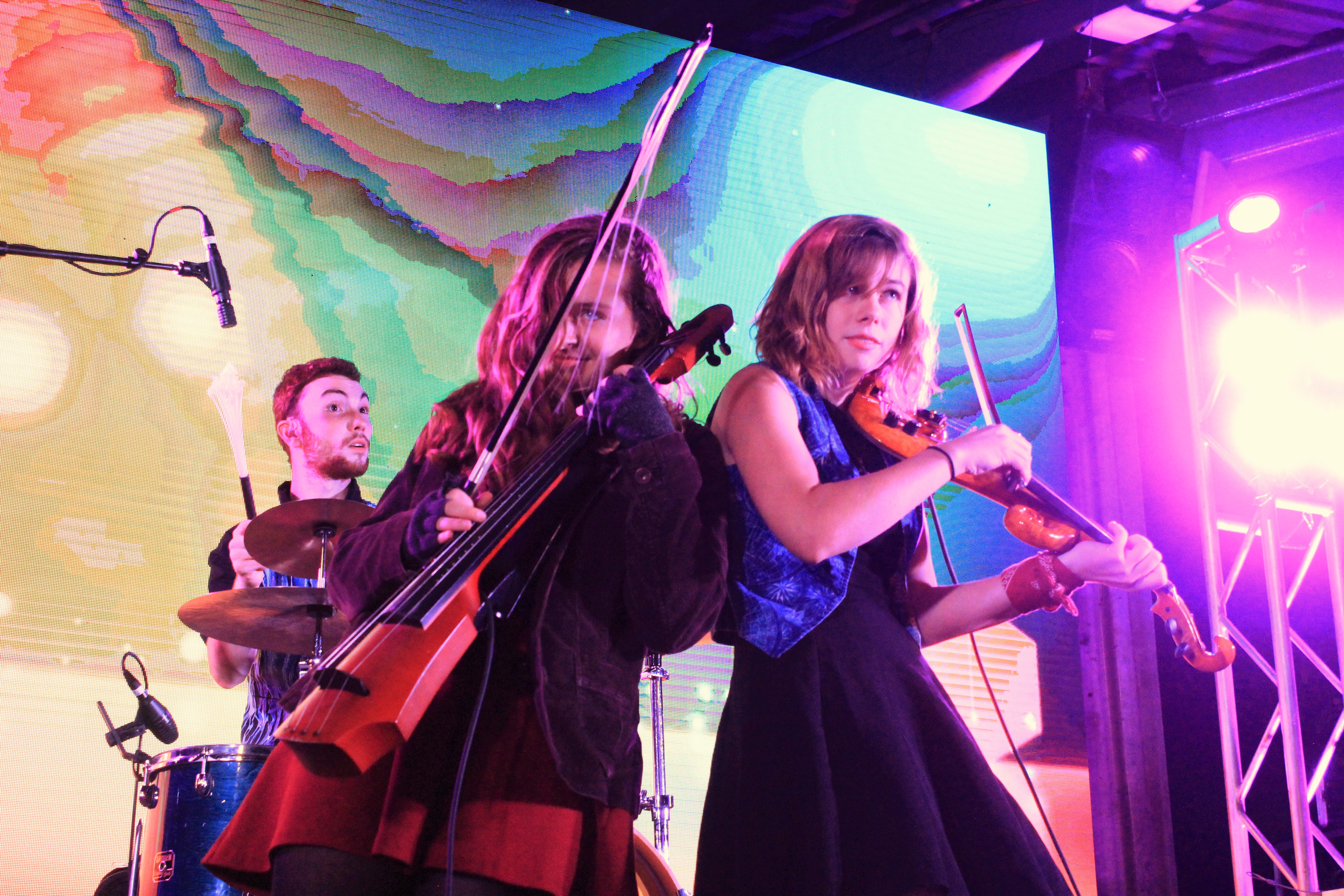 Celebrating ArtPrize: Traverse City's The Accidentals wrapped up the announcement of 2016 ArtPrize awards on Friday night at Rosa Parks Circle. (Photo/Anna Sink)