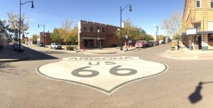 On a Corner in Winslow, Arizona: Route 66
