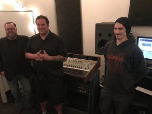 The Team: Ryan Williams, Randall Erno and Devon Mathews in the Level Up control room. (Photo/Local Spins)