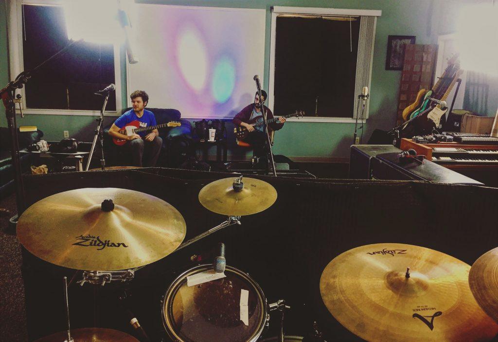 New Digs, New Album: Desmond Jones laying down tracks at Level Up Studios in Grand Rapids. (Photo/John Nowak)